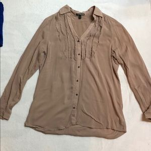 Tan Buttoned Blouse